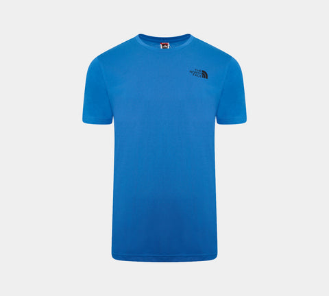 The North Face Simple Dome Cotton Logo Sports T-Shirt Top - Blue