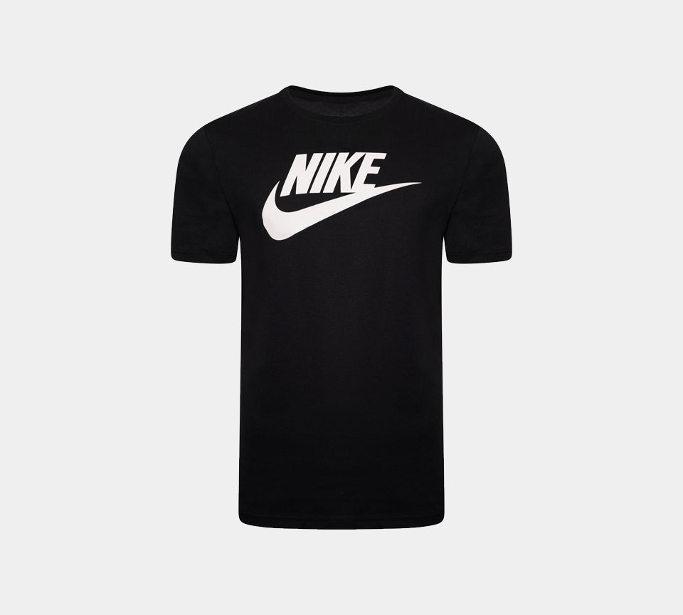 Men's Nike Logo Sports T-Shirt Futura Top Black S-2XL