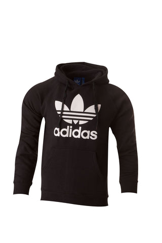 Adidas Originals Trefoil Cotton Casual Hoodie Hooded Shirt All Size S M L XL Black
