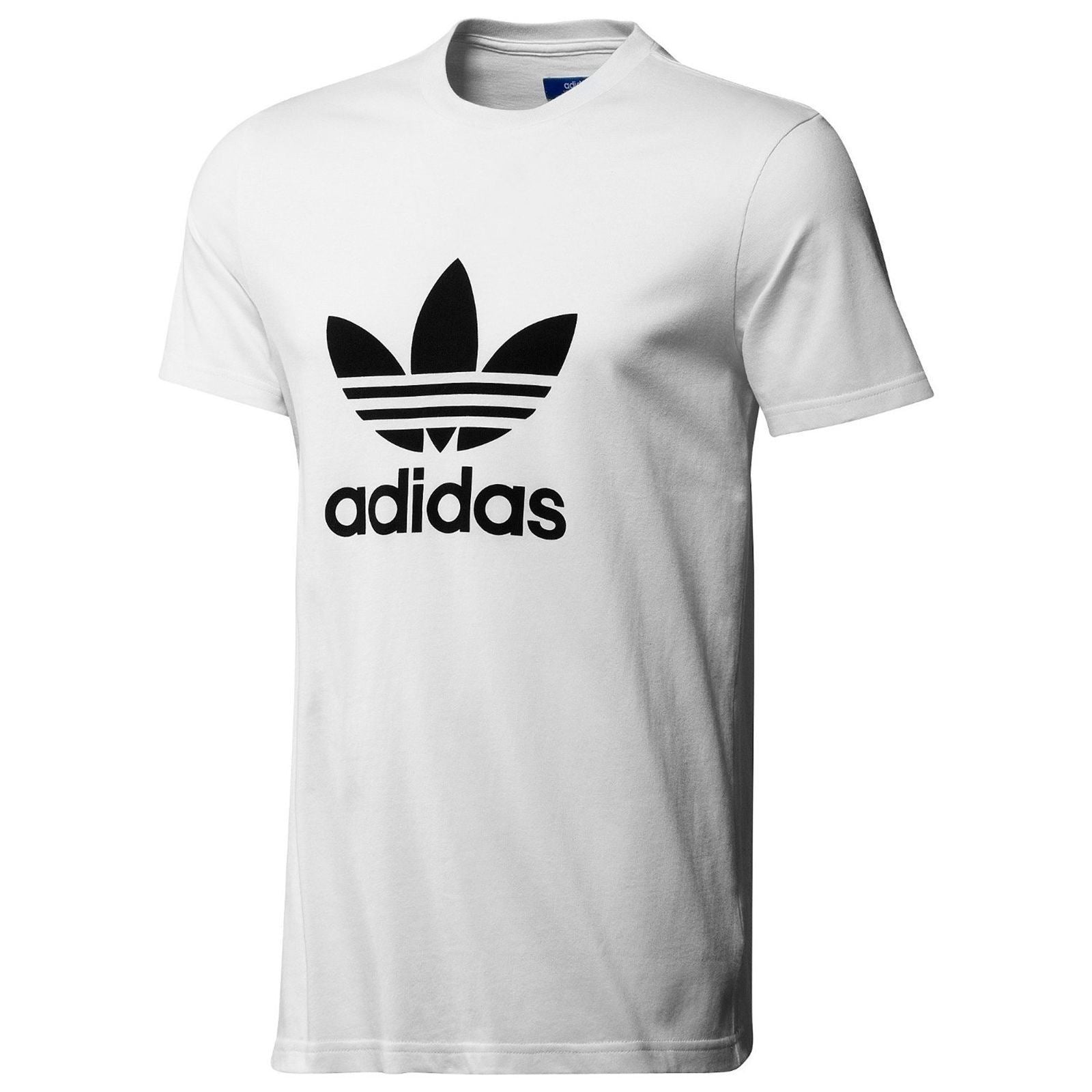 Adidas Originals Trefoil Tee Crew Neck Cotton Casual T-Shirt All Size S M L XL WHITE