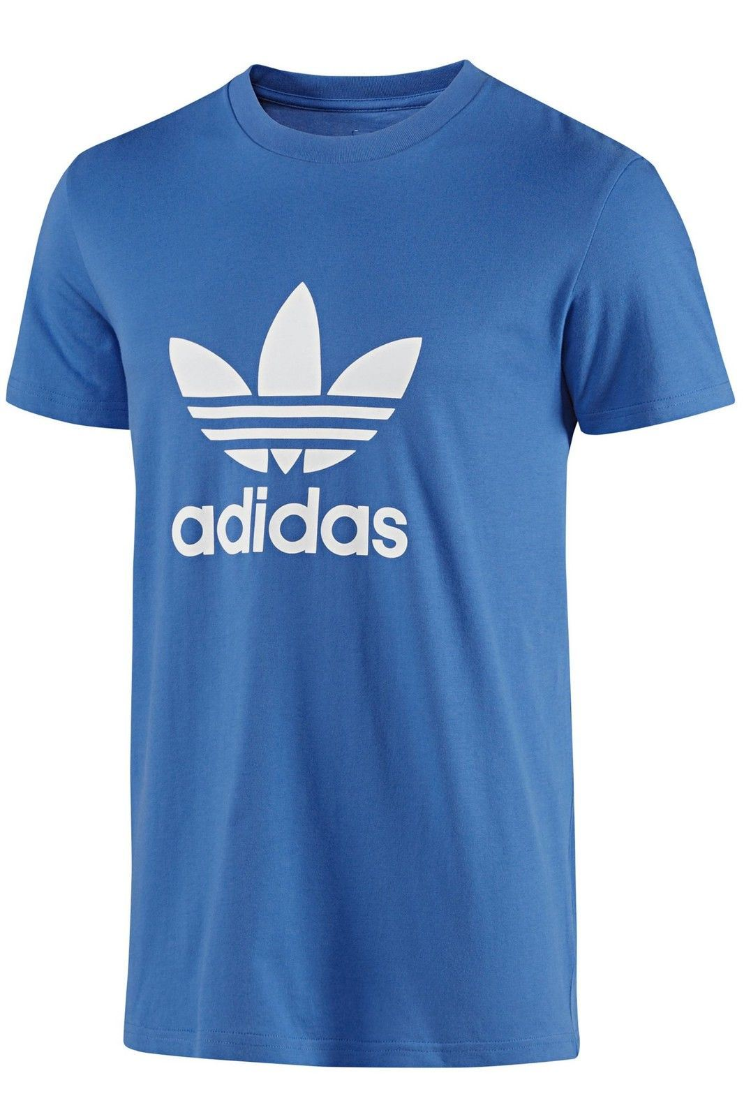 Adidas Originals Trefoil Tee Crew Neck Cotton Casual T-Shirt All Size S M L XL BLUE