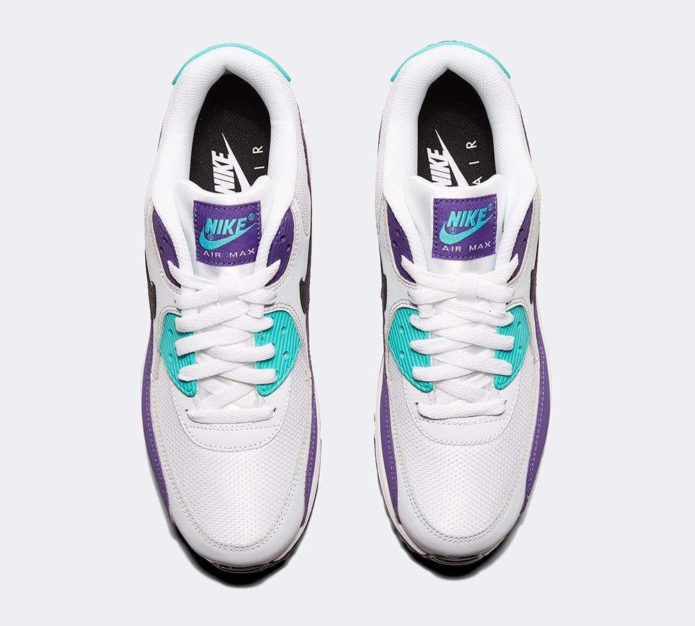 quality design 04aa0 3f7f0 Nike Air Max 90 Essential AJ1285 103 White Black Hyper Jade