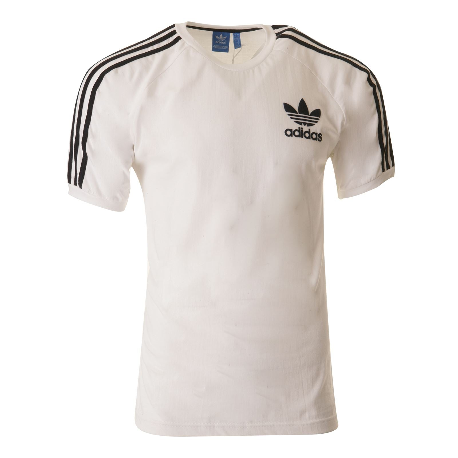 ADIDAS ORIGINALS SPORT ESSENTIALS CALIFORNIA TEE Mens BLACK/NAVY/BLUE/WHITE S-XL White