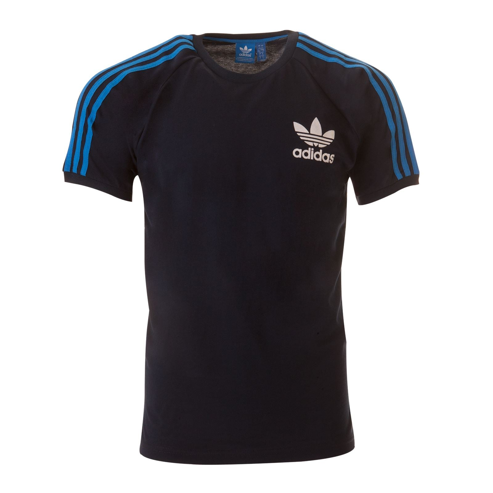 ADIDAS ORIGINALS SPORT ESSENTIALS CALIFORNIA TEE Mens BLACK/NAVY/BLUE/WHITE S-XL BLUE STRIPE