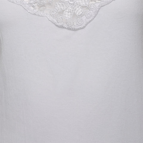 Women LACE VEST WHITE
