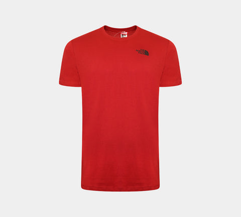 The North Face Red Box Logo Tee Aster Red