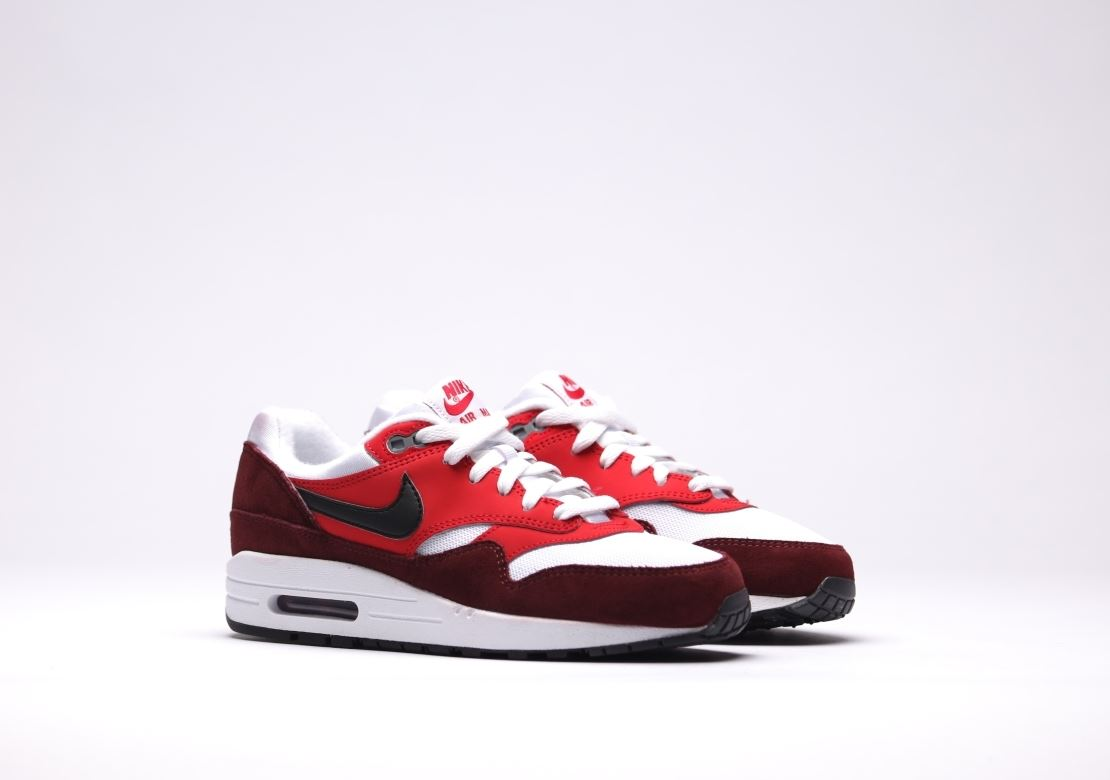 NIKE AIR MAX 1 (GS) PINK/WHITE/MAROON 555766 107