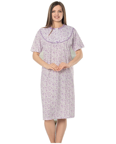 100% cotton Ladies Chemise Night Shirt Women Nightdress Nighties Suit NS-20-3