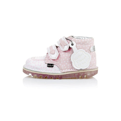 Kickers Arro LTHR  113267 PINK/WHITE GIRLS CASUAL SHOES