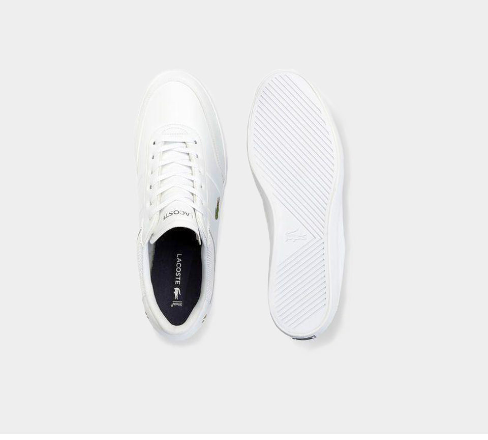 LACOSTE COURT-MASTER 118 2 CAM WHT/NVY LEATHER TRAINERS UK 6-11