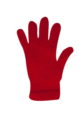 Ladies Girls Stretchy Warm Winter Magic Gloves Berry Red