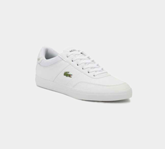 LACOSTE COURT-MASTER 118 2 CAM WHT/NVY LEATHER TRAINERS
