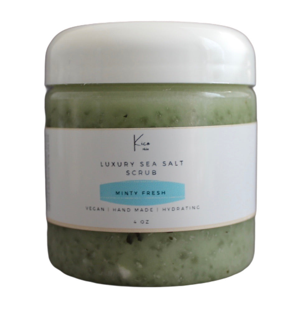 Minty Fresh Sea Salt Scrub