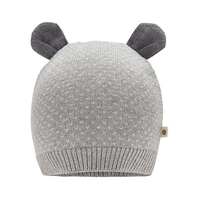 Knitted Grey Hat With Ears