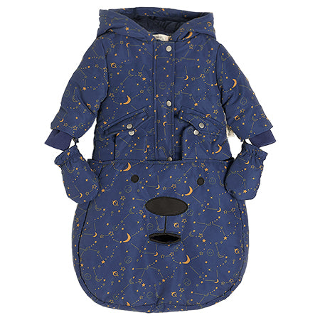 The Bonnie Mob Navy Cosmos Pramsuit