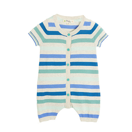 The Bonnie Mob Blue Striped Playsuit