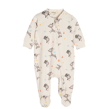 Deer Zip-Up Sleepsuit