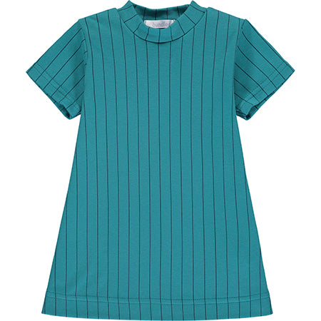 Teal Striped Dress