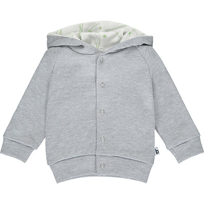 Grey Hoodie with Star Lining