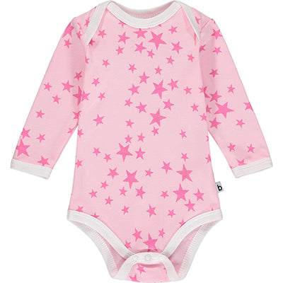 Pink Star Long Sleeve Bodysuit