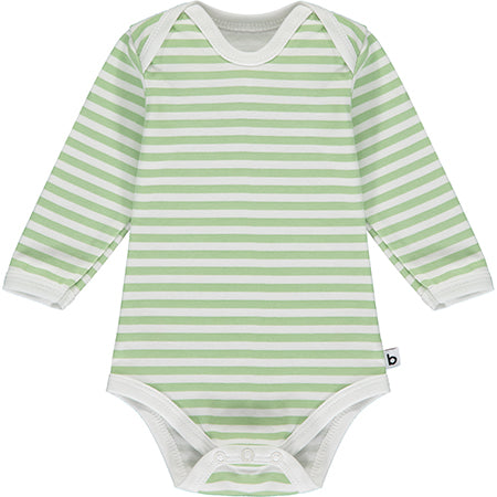 Green Striped Long Sleeve Bodysuit