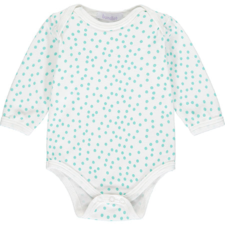 Mint Polka Dot Long Sleeve Bodysuit