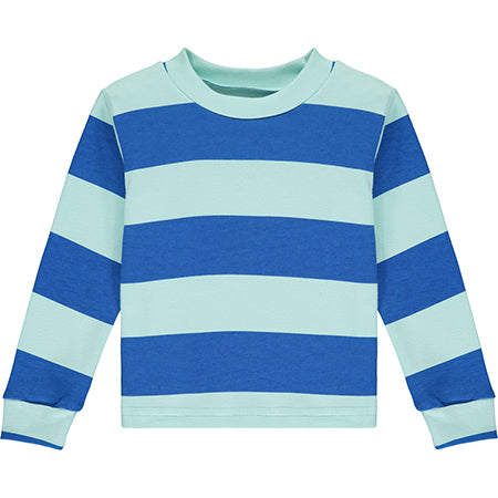 Aqua Striped Pyjama Top