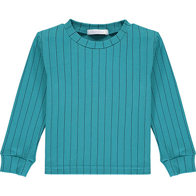 Teal Striped Pyjama Top