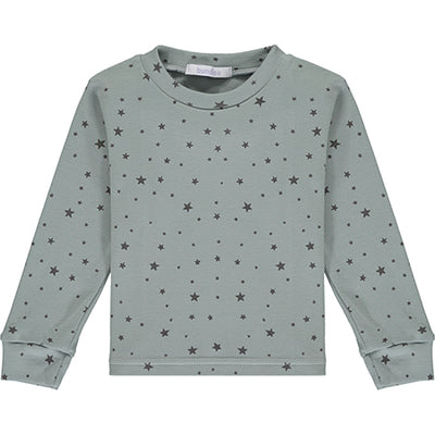 Grey Star Print Pyjama Top