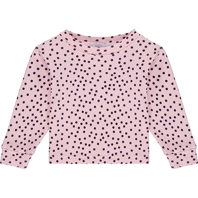 Pink Polka Dot Pyjama Top