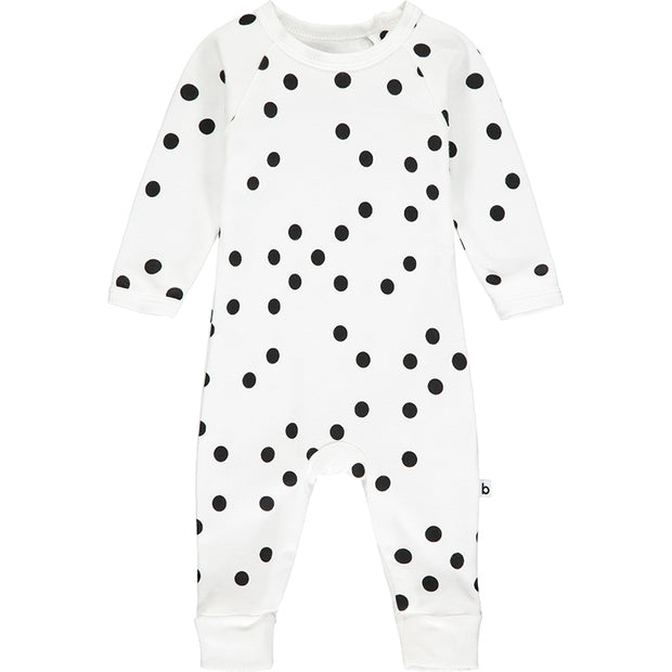 Black and White Polka Dot Romper