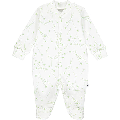 Green Star Print Sleepsuit
