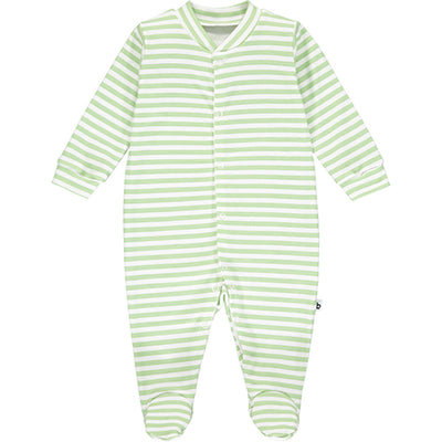 Green Striped Sleepsuit