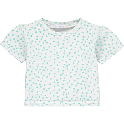 Mint Polka Dot Short Sleeve Top