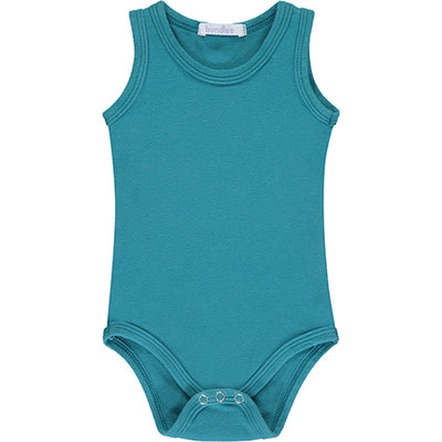 Teal Sleeveless Bodysuit
