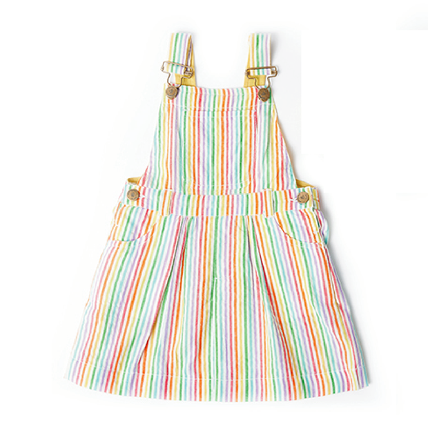 Dotty Dungarees Rainbow Seersucker Dress