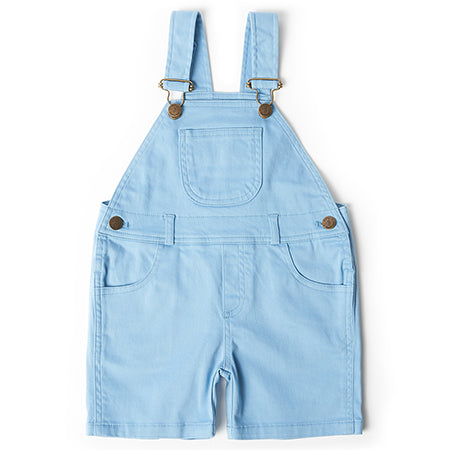 Dotty Dungarees Sky Blue Dungaree Shorts