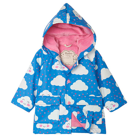 Hatley Cheerful Clouds Colour-Changing Raincoat