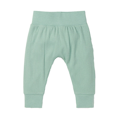 Mint Ribbed Joggers
