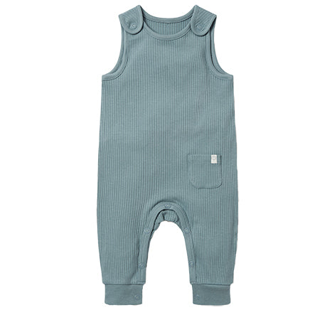 Sky Ribbed Dungarees