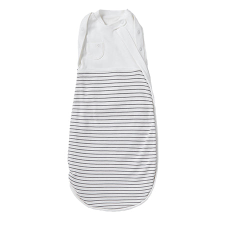 MORI Grey Stripe Newborn Swaddle Bag