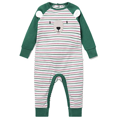 Bear Stripe Sleepsuit