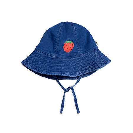 Strawberry Denim Sun Hat