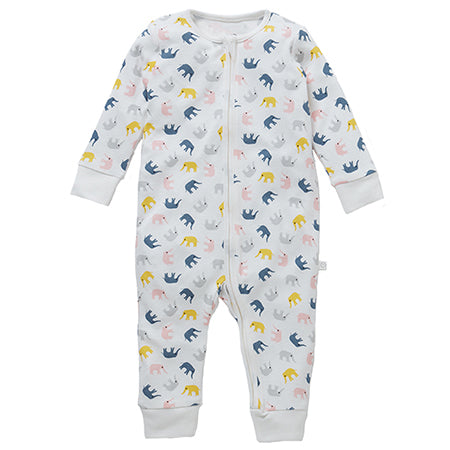 Little Elephant Zip-Up Sleepsuit