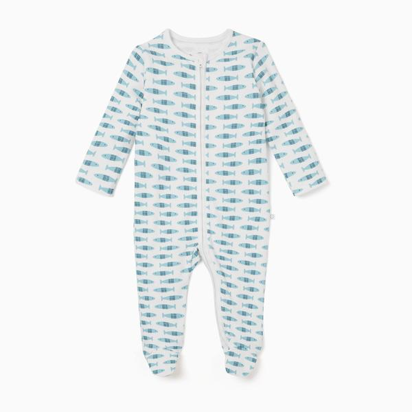Little Fish Zip-Up Sleepsuit