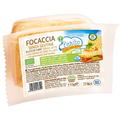 FREE FROM ORGANIC FOCACCIA 110g