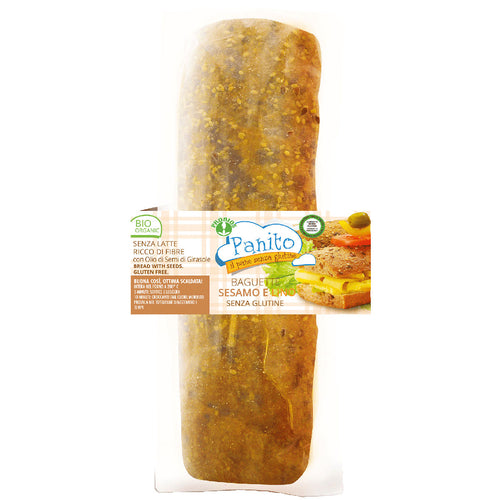 FREE FROM ORGANIC SESAME & LINSEED BAGUETTE 160g
