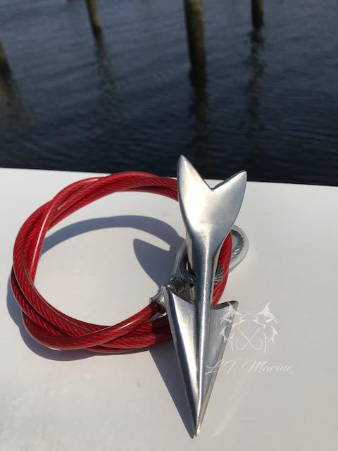 Rigged Stainless Steel Harpoon Dart