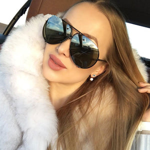 Kim Big Brand Aviator Design Sunglasses 2018