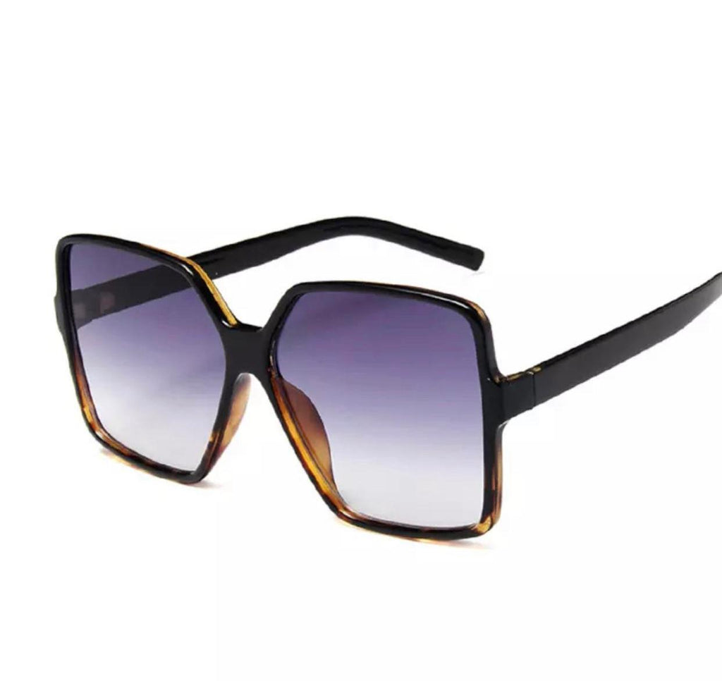 Pret oversized Sunglasses -Black leopard